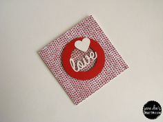 Love Card Heart Card Valentines Card For Her by JaneDoesCraftroom