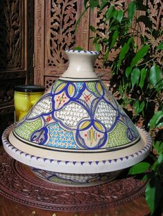 Large Tunisian cooking tagine in blue. http://www.maroque.co.uk/showitem.aspx?id=ENT06121&s=30-30-490