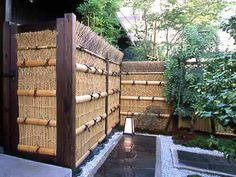 Bamboo Fences in a Japanese style