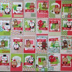 Christmas cards greeting card cricut create a critter doodlebug paper scrapbooking willow fox design Xmas