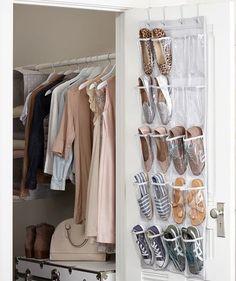 Dorm shoe storage ideas over the door vinyl shoe rack dorm closet storage ideas . Dorm Closet Organization, Dorm Room Closet, Do It Yourself Organization, Wardrobe Room, Closet Space, Closet Storage, Organization Ideas, Storage Room, Open Wardrobe