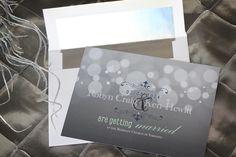 Romantic, vintage wedding invitation