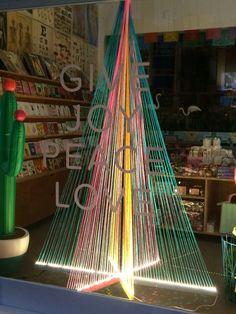 "IKOIKO,Ponsonby,Auckland, New Zealand, ""Give Joy Peace Love Christmas Tree"", uploaded by Ton van der Veer"