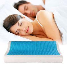 """Orthopedic Memory Foam Gel Pillow 19.7 x 11.8 / 3.9"""" x 2.4"""""""