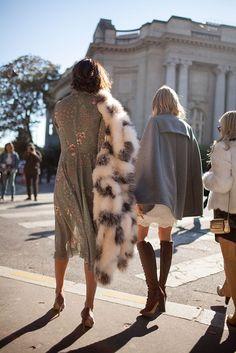 25 Amazing (Faux) Fur Inspiration Looks | 25 looks pour suivre la tendance (fausse) fourrure #style