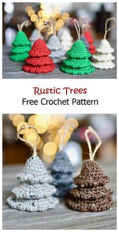 Rustic Trees Free Crochet Pattern – Knitting Projects