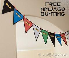 beckhams party13 thumb Ninjago Birthday Party with Free Printables
