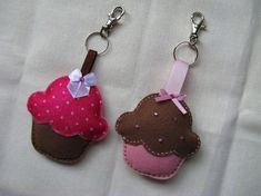 Felt Cupcake Key Chain