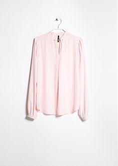 V-neckline shirt