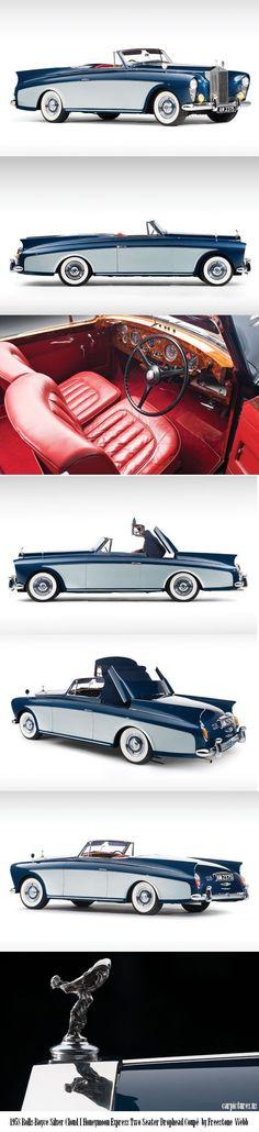 1958 Rolls-Royce Silver Cloud I Honeymoon Express Two Seater Drophead Coupé by Freestone Webb: