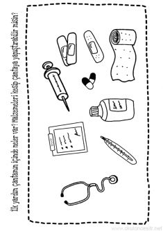 Kizilay Week Coloring Page Preschool Schedule, Preschool Curriculum, Preschool Printables, Preschool Kindergarten, School Teacher, Pre School, Preschool Behavior Management, Matching Worksheets, Arrow Art
