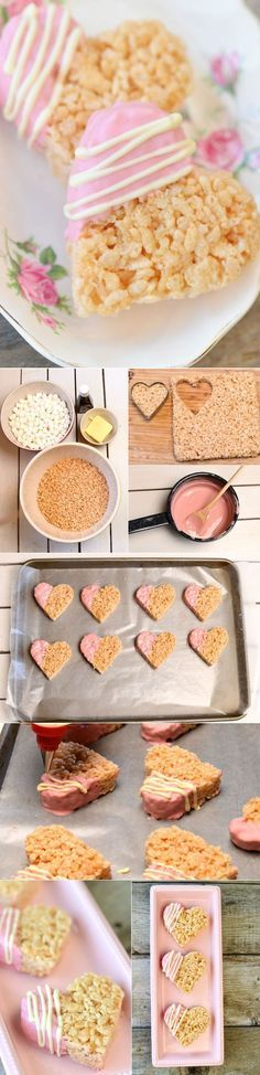 cute edible DIY wedding favors with rise krispie treat                                                                                                                                                                                 More