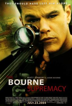 The Bourne Supremacy Jason Bourne is played by Matt Damon. This movie takes on the name of the second Bourne novel The Bourne Supremacy by Robert Ludlum, however, the plot is completely different. Film Movie, Film D'action, Bon Film, Hindi Movie, Drama Film, Jason Bourne, Matt Damon, Great Films, Good Movies