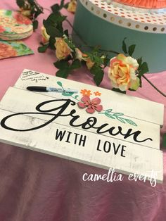 Garden Theme Baby Shower | A Baby Is Blooming | Sign In Keepsake