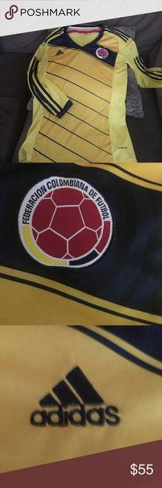 Colombia soccer team shirt, medium. Medium Colombian soccer team shirt long sleeve. adidas Tops Tees - Long Sleeve