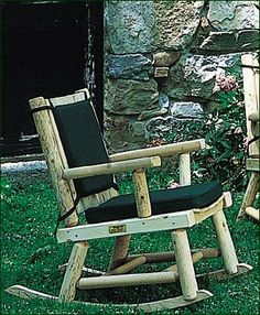 "Rangeley Rocker -  Smooth cedar slats on seat and back of this Rocker are set at an angle offering solid comfort.    34"" H, 25"" W, 33 1/2"" D."
