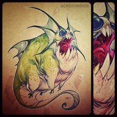 """:::""""Scribbles :CreatureBox- i'm a big fan of these guys. find them on instagram too:::"""
