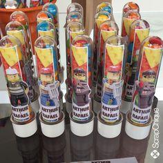 Tubetes para Festa Lego. #scrapchique #lego #festalego #festameninos #tubetes