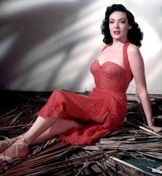 SECOND CHANCE (1953) - Robert Mitchum - Linda Darnell (pictured) - Jack Palance - RKO-Radio - Publicity Still.