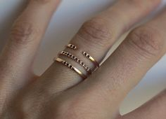 Simple Rose Gold Ring Dainty Wedding Ring Rose Gold by MinimalVS
