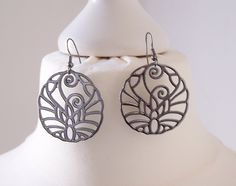 Earrings - diameter 3.5cm