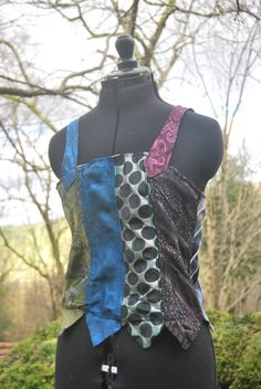 7bcd3a08e3381 This lovely patchwork carnival top is made from vintage silk mens ties  donated by my Grandfather