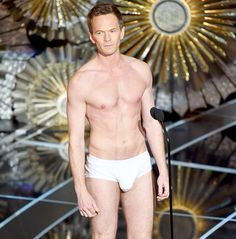 Oscars host Neil Patrick Harris spoofed Birdman and Whiplash, stripping down to his (notably stuffed) underwear and running around the Dolby Theatre -- watch now!