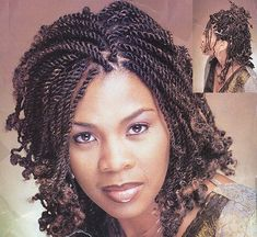 twist black hairstyles for black women | Curly Hairstyles for African Women 2009 kinky twists hairstyle front ...