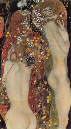 Water Serpents II by Gustav Klimt color palate for a room.