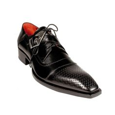 #Zapatos Jo Ghost Shoes Lace-Up Square Toe Black Leather Oxford #Shoes