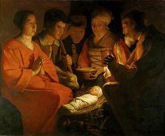 Georges de La Tour - Adoration of the Shepherds [c.1644] | Flickr - Photo Sharing!