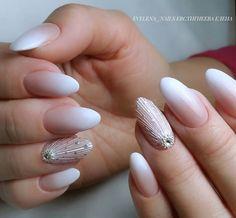 Repost Again gossamer # beautiful nails # beautiful manicure # beautiful design nails # nails # manicure # gellac # com . Nail Manicure, Nail Polish, Manicures, City Nails, Rhinestone Nails, Nail Bar, French Nails, Simple Nails, Wedding Nails