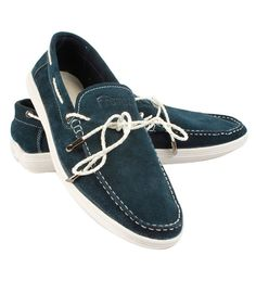 Famozi Blue Suede Boat Shoe Make a bold statement with these casual men s  loafers from Famozi 7e65df17d710d