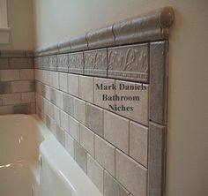 Tile over a fiberglass tub shower enclosure bath pinterest nice get the look and lakes - Nice subway tile bathroom designs with tips ...