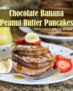 Banana Chocolate Peanut Butter Pancakes Recipe to have an easy and ...