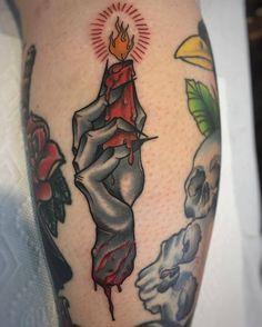 Severed Hand & Candle tattoo by @electricsheena at @sacredtattoonyc in New York City New York #electricsheena #sacredtattoonyc #sacredtattoo #newyork #newyorkcity #nyc #severedhand #severedhandtattoo #candletattoo #tattoo #tattoos #tattoosnob