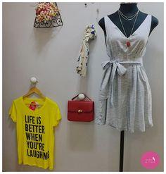 Macaquinho, t-shirt, acessórios... Muita coisa linda por aqui! #Vemprazas
