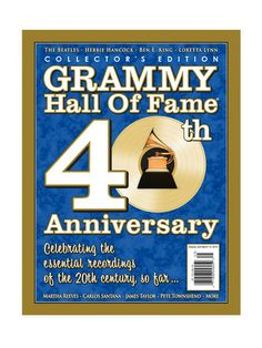 Celebrate the essential recordings of the 20th century so far with the Collectors Edition Grammy Hall of Fame 40th Anniversary book! Features The Beatles, Herbie Hancock, Ben E. King, Loretta Lynn, James Taylor and much more!