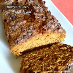 Chocolate chip pumpkin bread recipe.  I made this today and this was heaven!  I was licking the batter from the bowl!