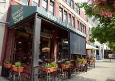 Tupelo Honey is one of the most popular restaurants in downtown Asheville, NC.