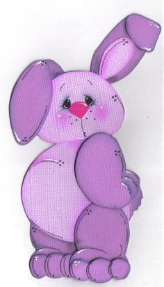 how tut! Paper Punch Art, Paper Art, Cute Clipart, Paper Piecing Patterns, All Things Purple, Animal Cards, Cute Bunny, Tole Painting, Easter Crafts