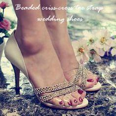 Gorgeous Diamanted Beaded High Heel Sandal Formal /Wedding/ Dancing Heel SIZE 2-8 for R362.26