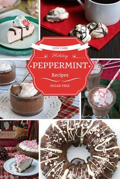 16 Sugar-Free Low Carb Holiday Peppermint Recipes!