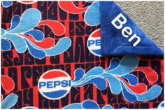 New to Sewdivine77 on Etsy: Pepsi double layered fleece blanket (55.00 USD)