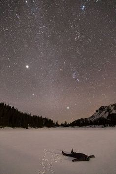 patagonia: 1. Jupiter lighting up the winter sky, Jefferson...