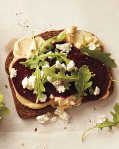 Roasted Beet and Hummus Sandwich, Wholeliving.com
