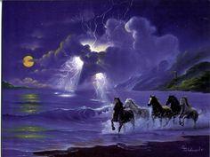 Horses JIm Warren Riders On The Storm