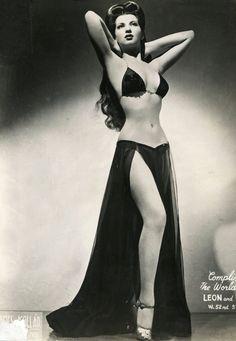 Burlesque dancer Sherry Britton c. 1940s