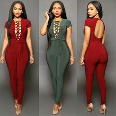 New Arrival Front Tie Club Queen QMilch Made Backless Sexy Jumpsuits & Romper Leather Jumpsuit, Overall, Catsuit, Online Boutiques, Backless, Sexy Women, High Neck Dress, Rompers, Queen