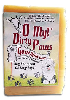 O My! Dirty Paws Goat Milk Dog Shampoo Bar 3 oz